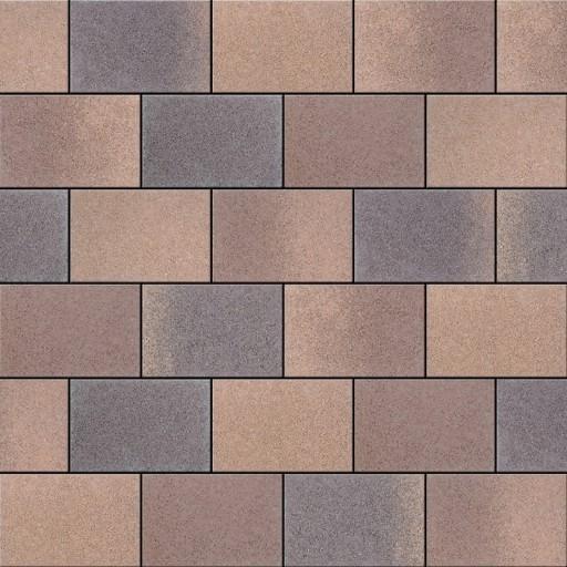 Barna mix Semmelrock Citytop Smart térkő - szín minta