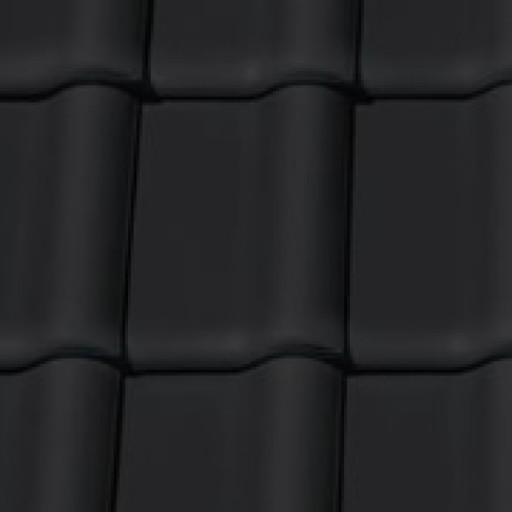 Fekete matt Creaton Balance Alapcserép | égetett cserép - szín minta