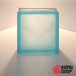 Azúrkék savmart üvegtégla