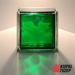 Smaragdzöld üvegtégla
