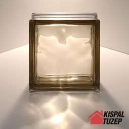 Barna átlátszó üvegtégla