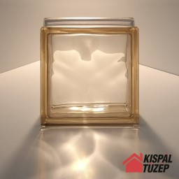Világosbarna átlátszó üvegtégla